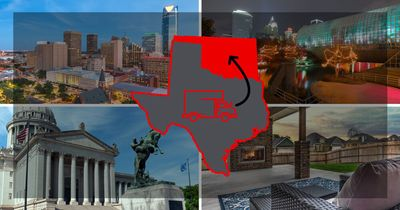 Moving to Oklahoma from Texas photo montage