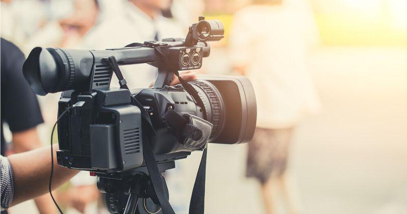 Movie camera filming in Oklahoma