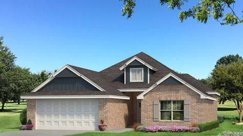 Homes by Taber Hunter Brick Elevation - Navy Blue