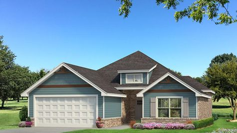 Homes by Taber Julie A Siding Elevation - Aqua