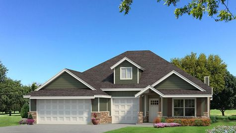 Homes by Taber Shiloh Siding Elevation - Green