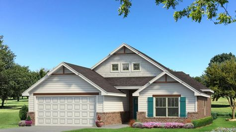 Homes by Taber Hunter A2 Elevation - Pop of Color