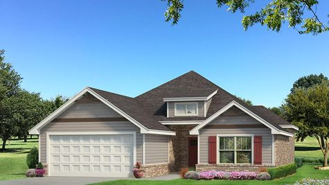 Homes by Taber Julie A Siding Elevation - Light Grey
