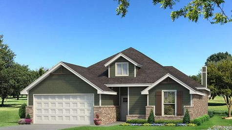 Homes by Taber Teagen Siding Elevation - Green