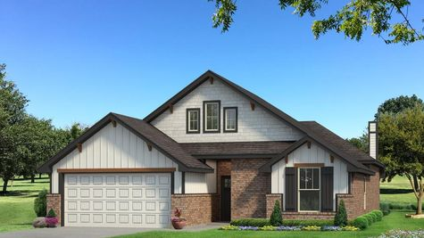 Homes by Taber Teagen A2 Elevation - Black and White