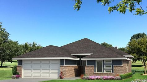 Homes by Taber Hunter B Elevation- Navy Blue