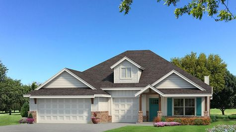 Homes by Taber Shiloh Siding Elevation - Pop of Color