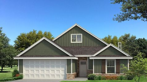 Homes by Taber Kamber A Siding Elevation - Green