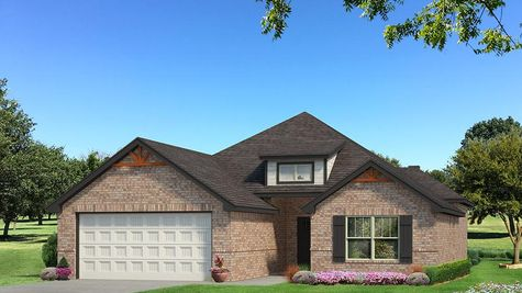 Homes by Taber Julie A Brick Elevation - Black and White