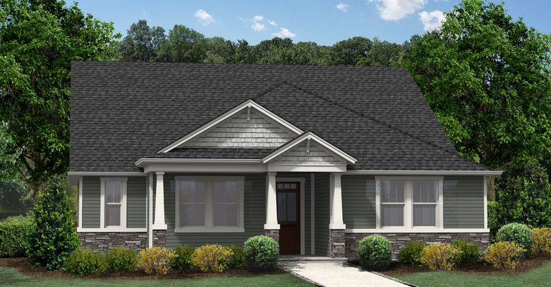 Ashford II Craftsman Elevation