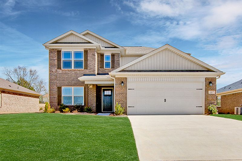 Cozy newly built home by local home builder Hyde Homes.