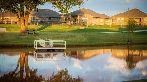 Greenleaf Trails pond and fishing dock