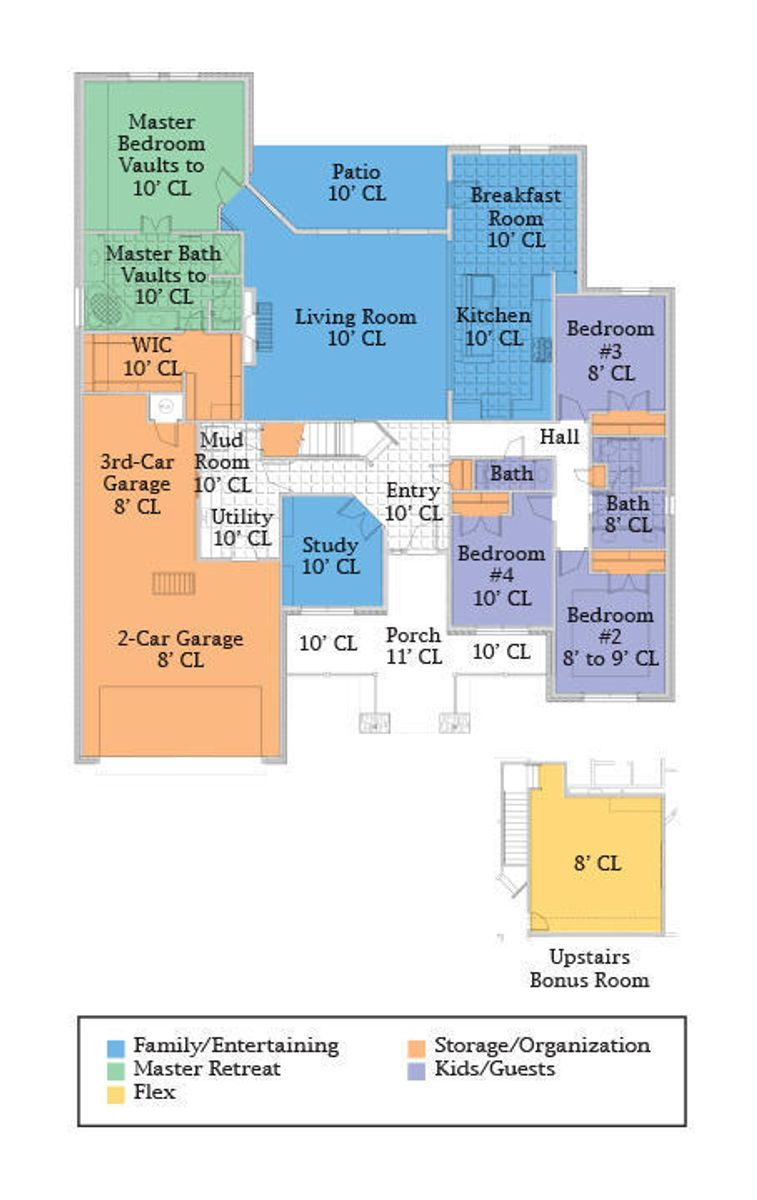 Floor plan of new home