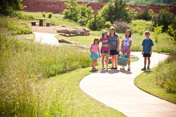 A family park in Red Canyon Ranch, a community of Norman OK new homes from Ideal Homes