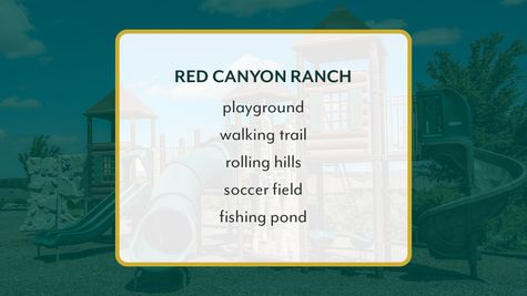 Red Canyon Ranch - playground, walking trail, rolling hills, soccer field, fishing pond