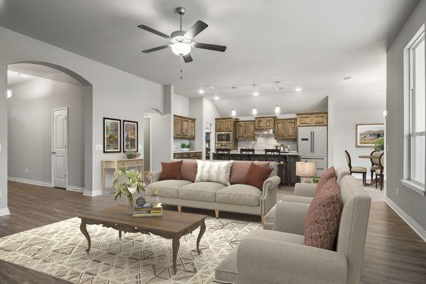 Langley 3-Car Living Room, Kitchen & Dining