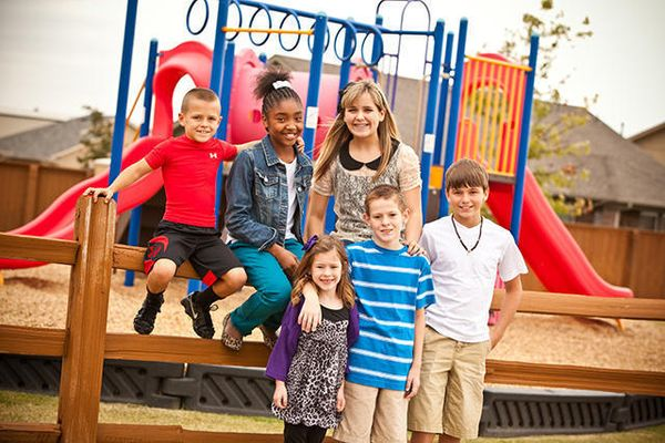 A Trail Woods playground, a community of Norman OK new homes from Ideal Homes