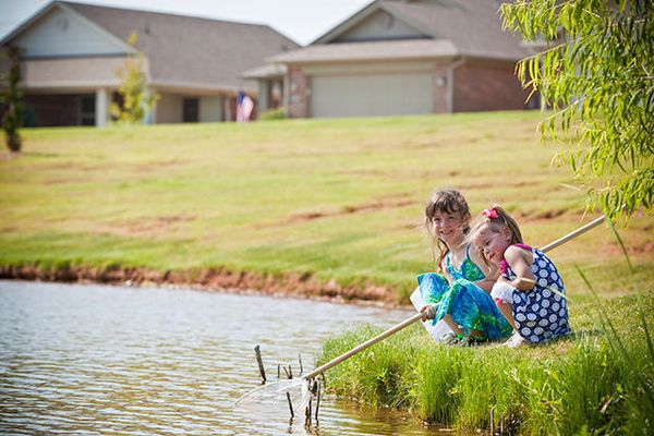 Children at a Featherstone Community park around our new homes in Moore OK from Ideal Homes