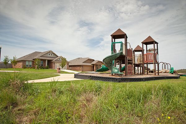 A playground in Red Canyon Ranch, a community of Norman OK new homes from Ideal Homes