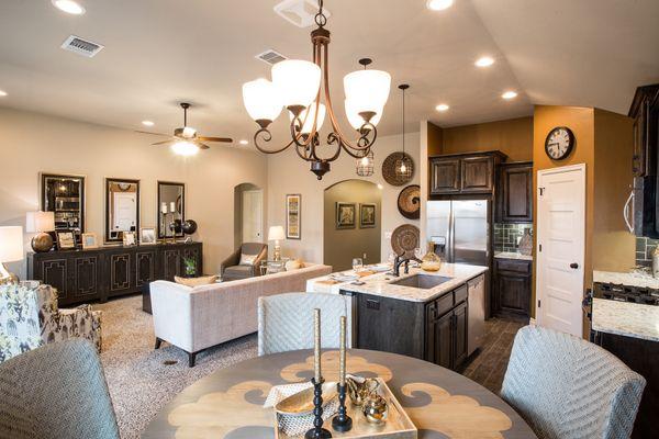Living Area, Kitchen & Breakfast Area
