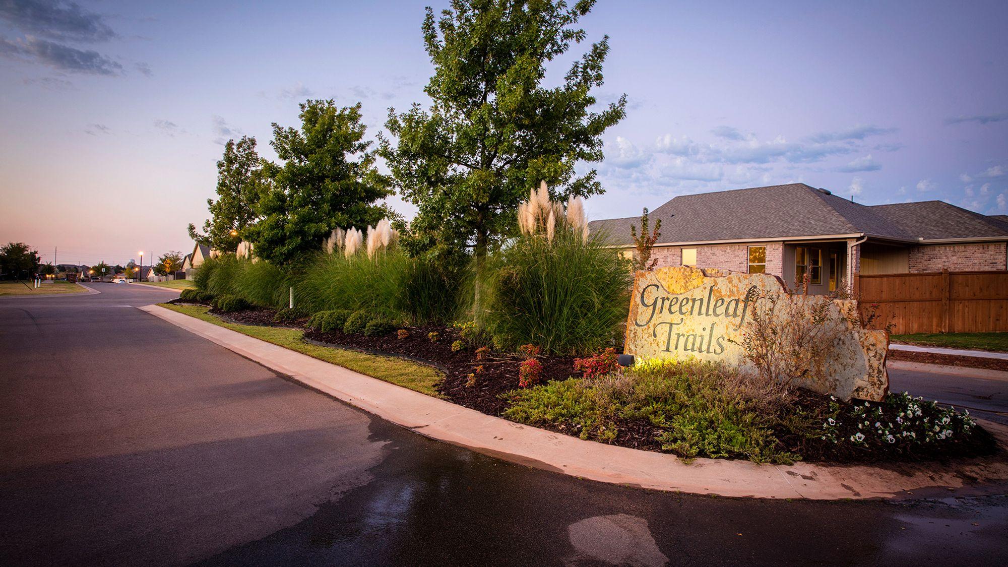 Greenleaf Trails Entrance Sign