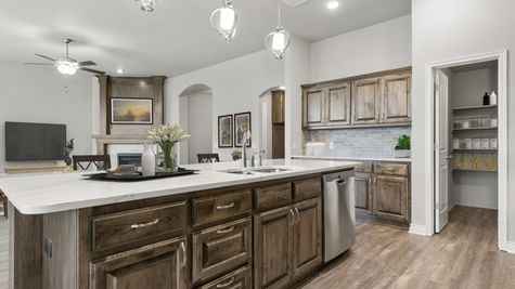 Langley 3-Car Kitchen & Living Room