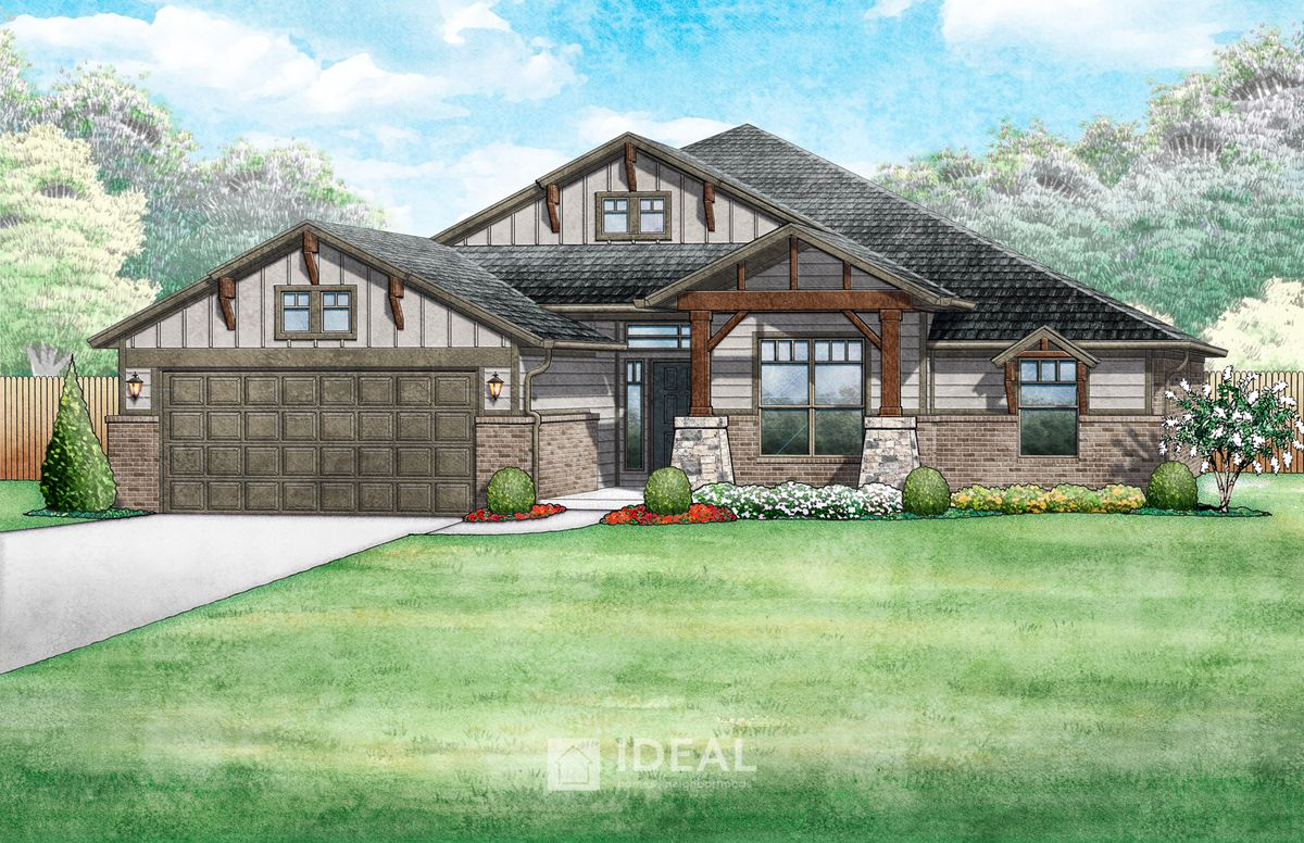Oakland Mountain Cottage - Elevation A