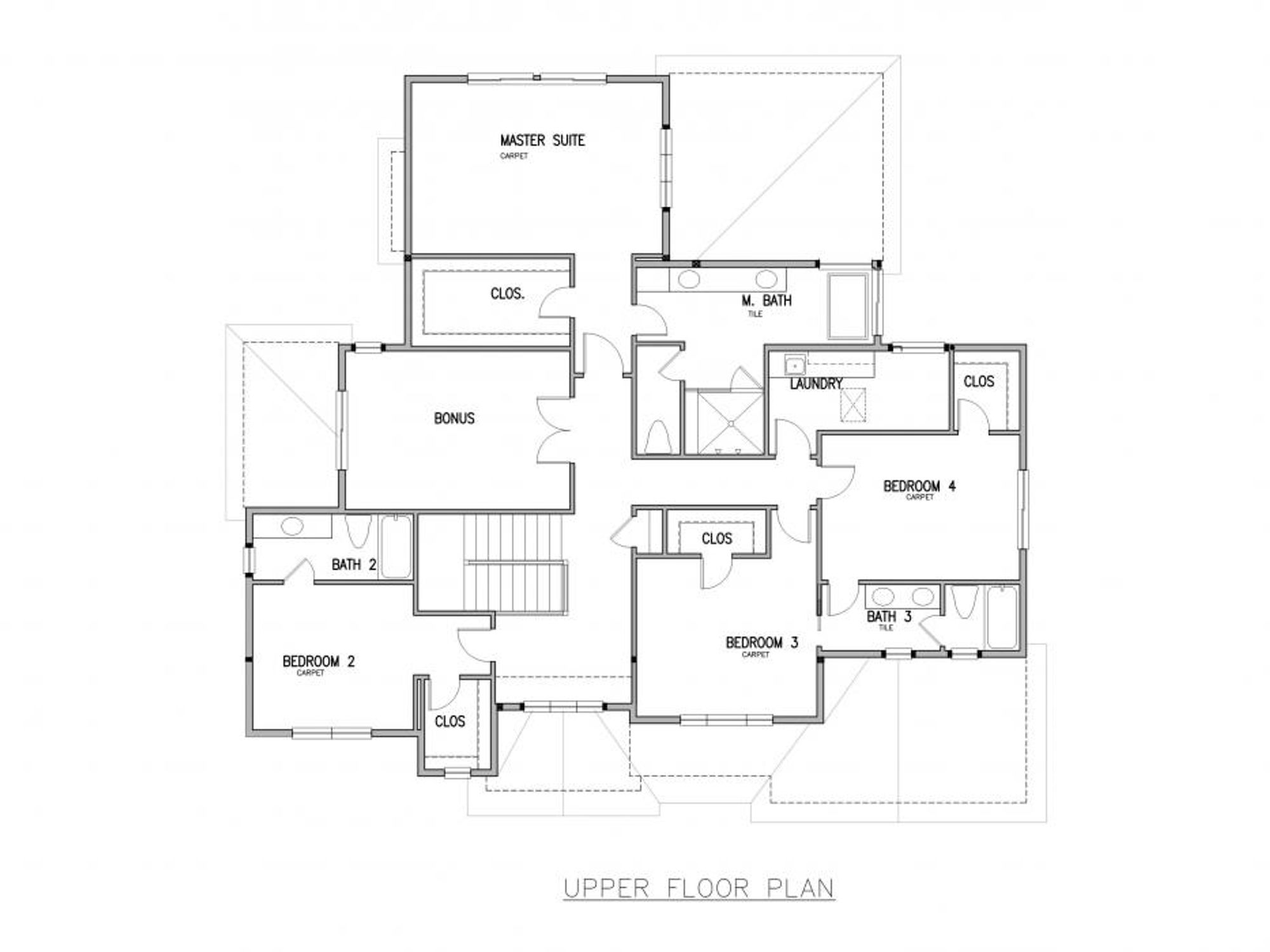 San Tropez A Upper Floor Plan