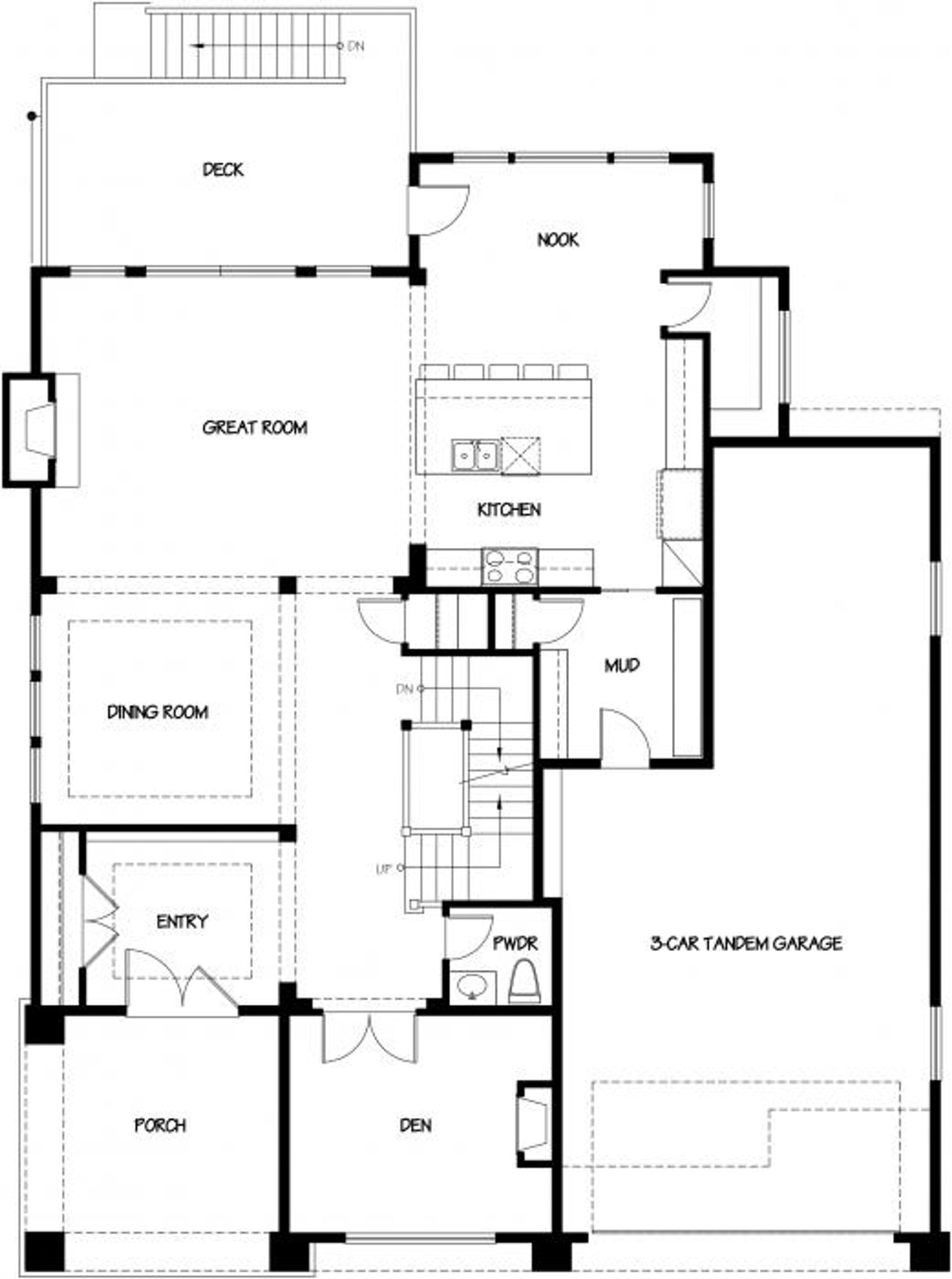 London A Main Floor Plan