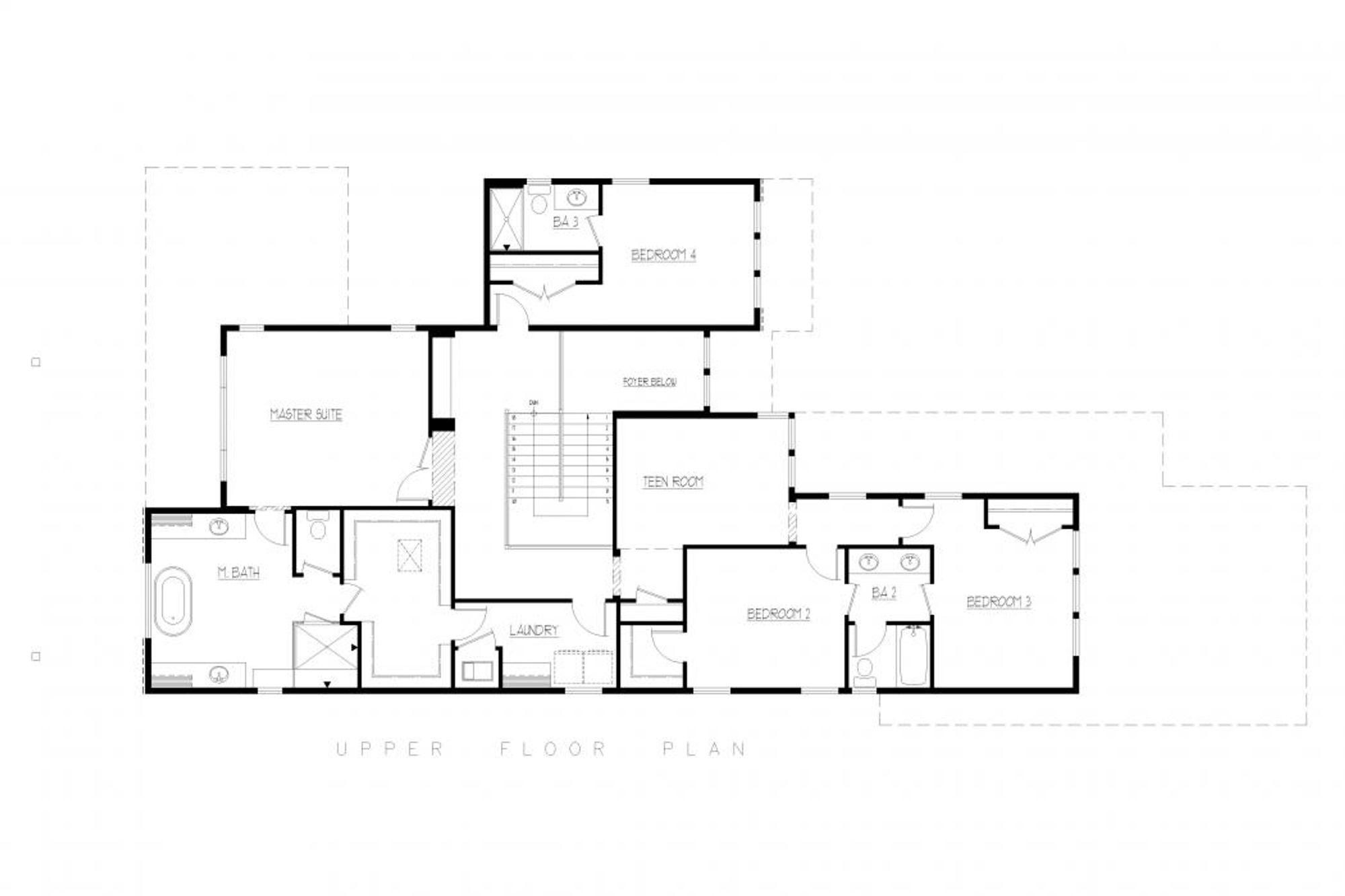 Tuscany Upper Floor Plan