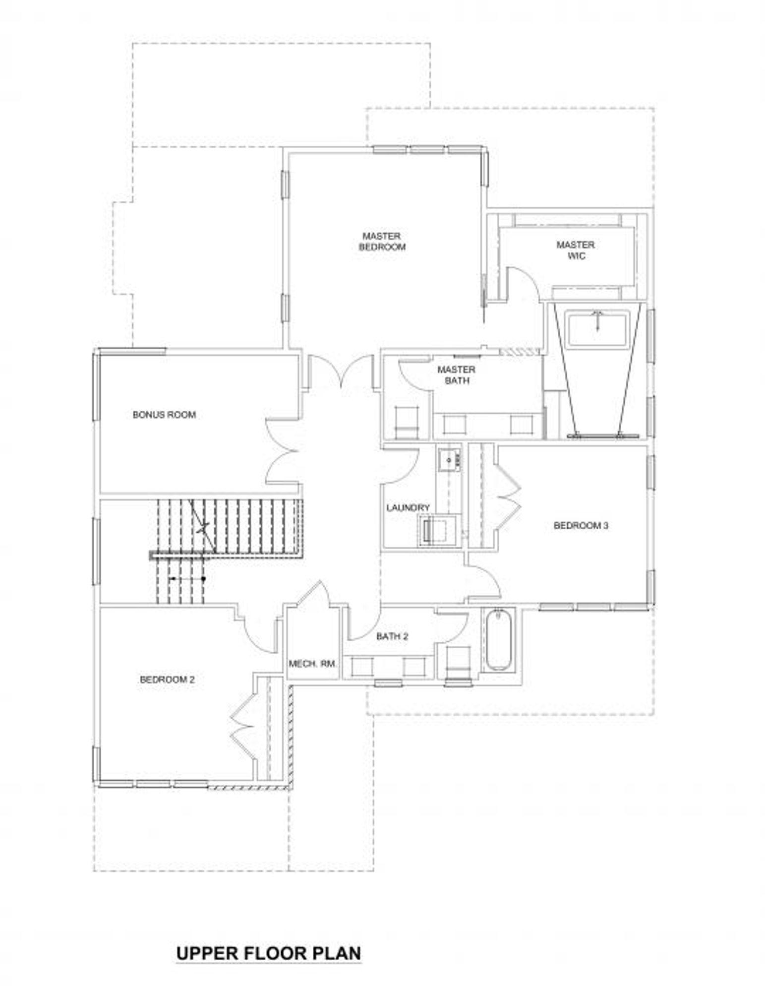 Caracas Upper Floor Plan