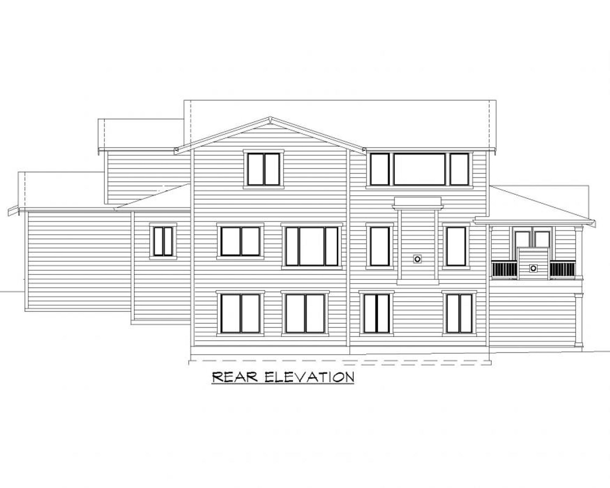 Calabria C Rear Elevation