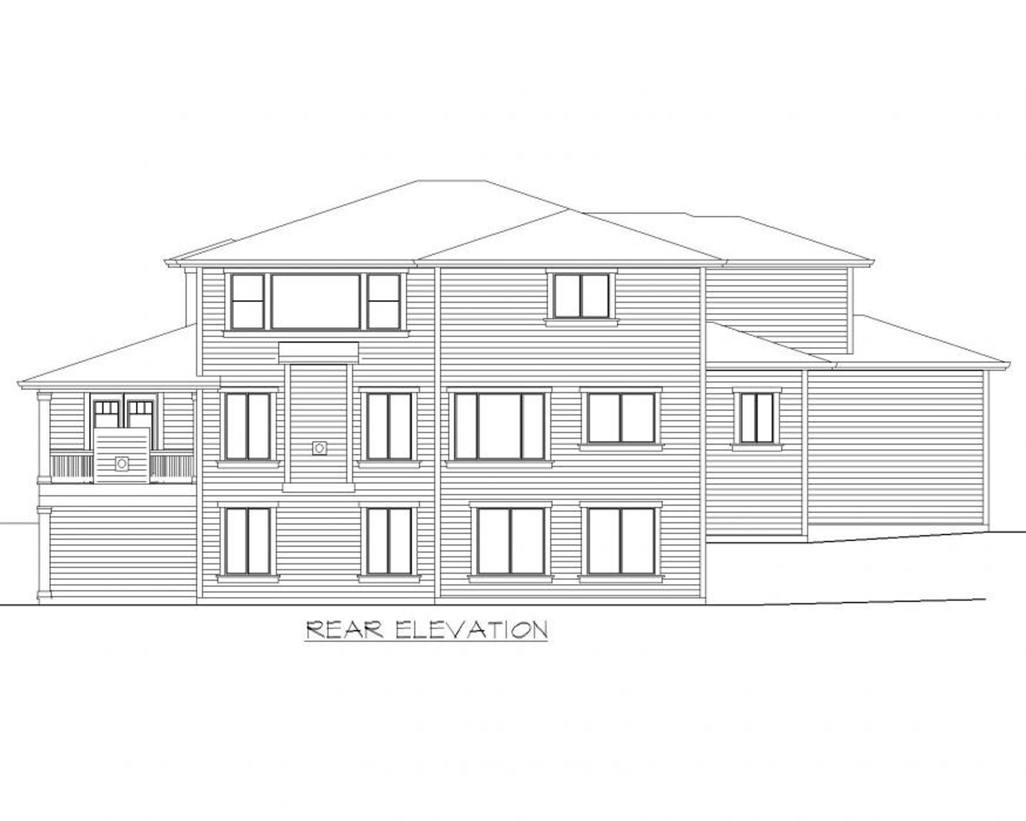 Calabria B Rear Elevation