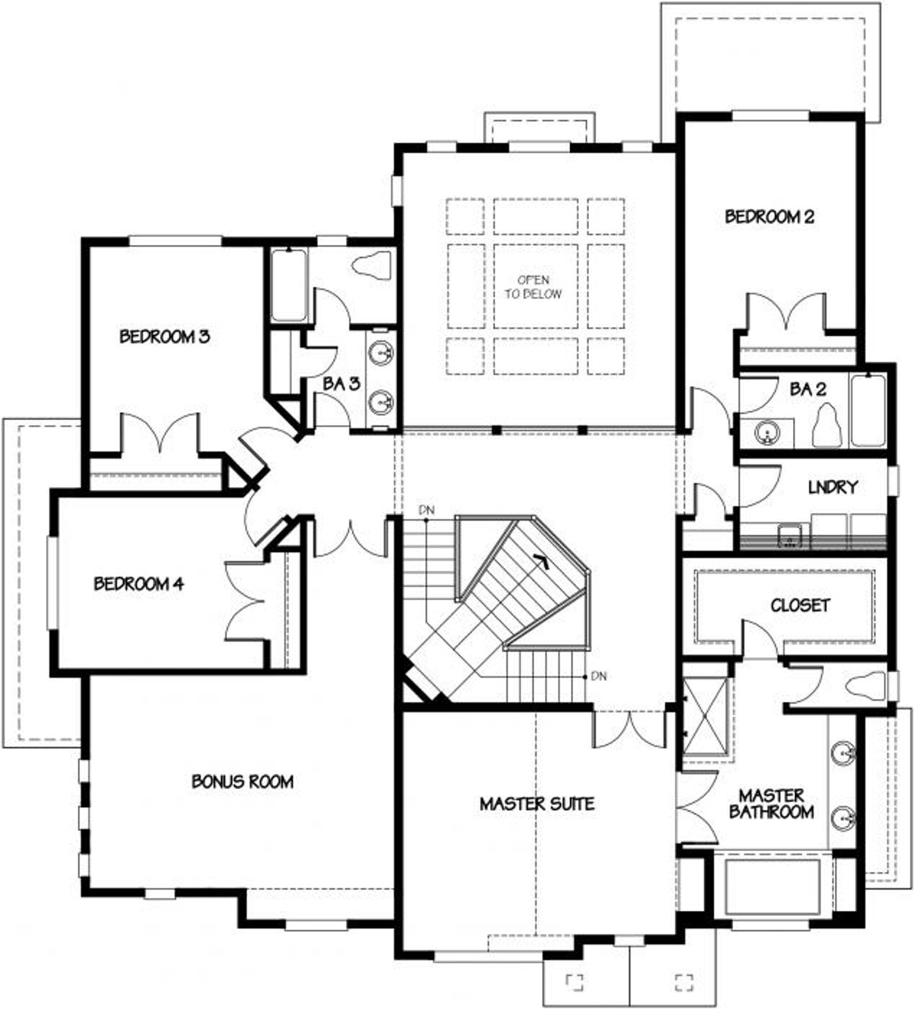 Palermo Upper Floor Plan