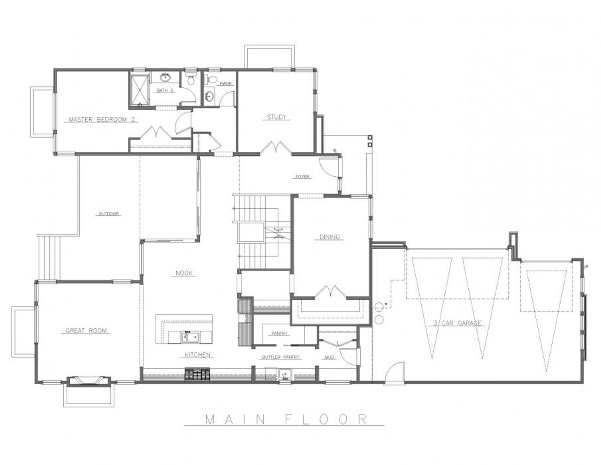 The Bordeaux Main Floor Plan