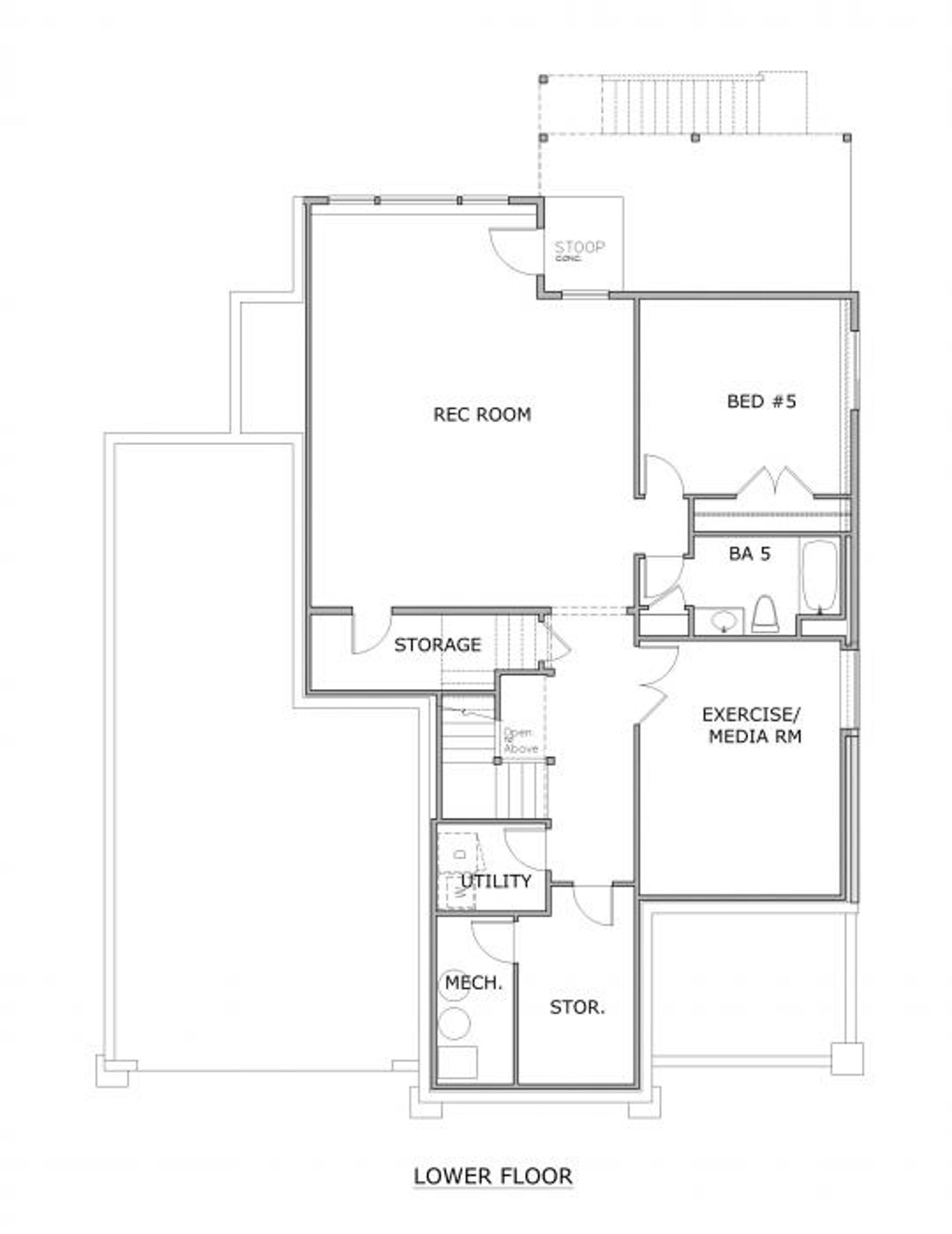 The London B Lower Floor Plan