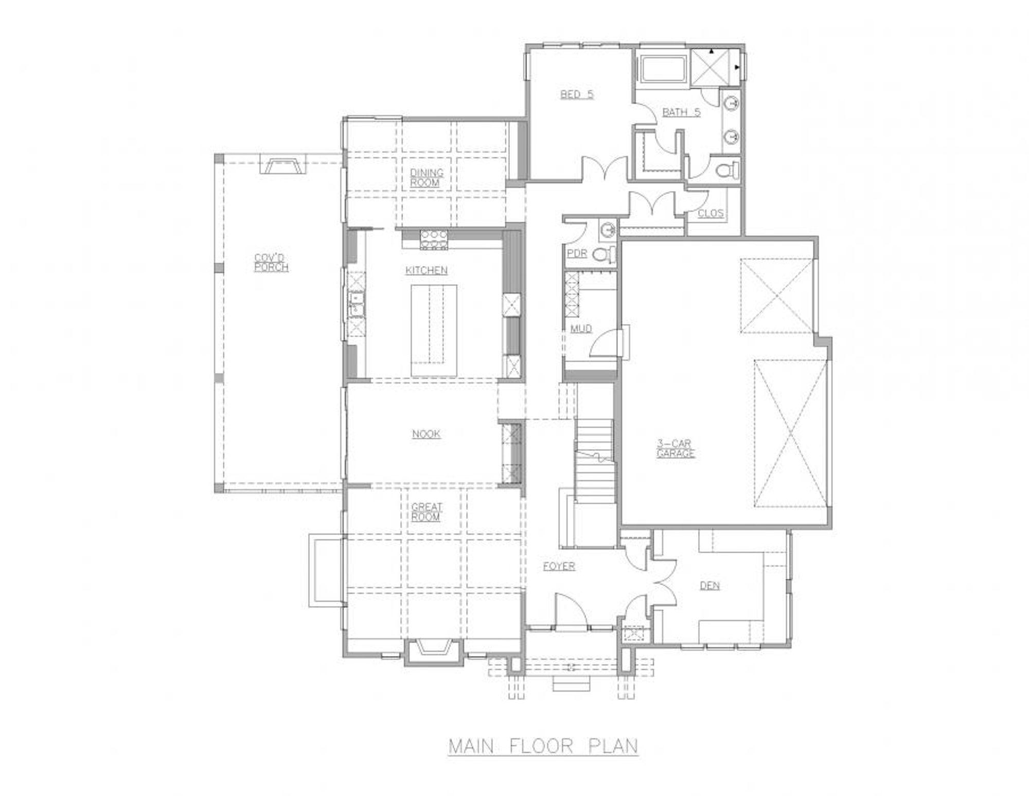 San Marino Main Floor Plan