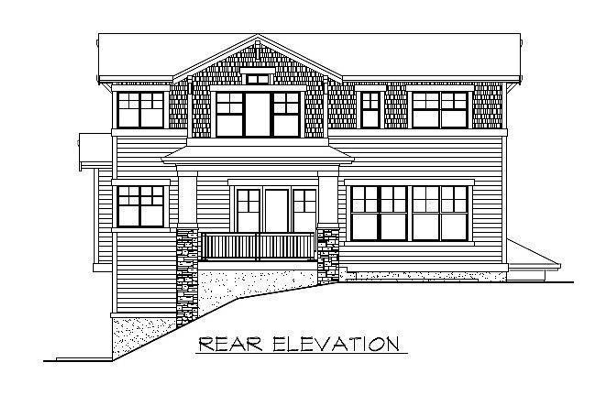 The Florence Avante Rear Elevation Drawing