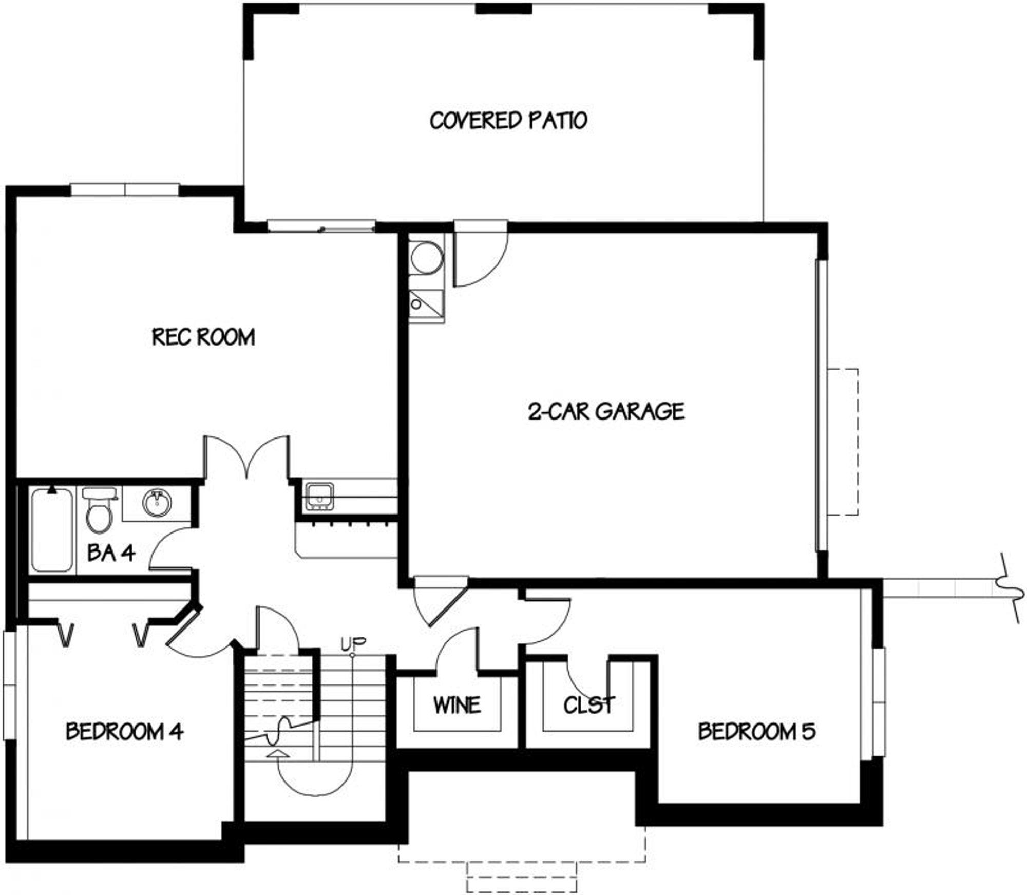 Valencia Lower Floor Plan