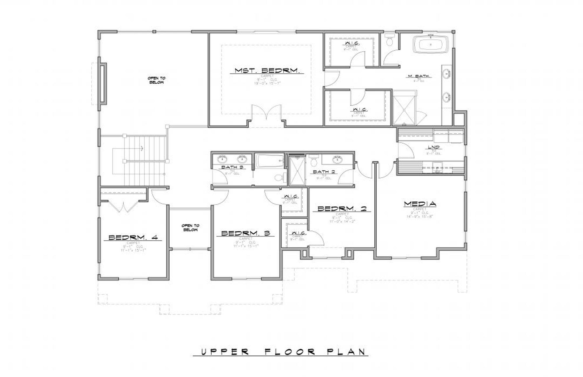 Victoria B Upper Floor Plan