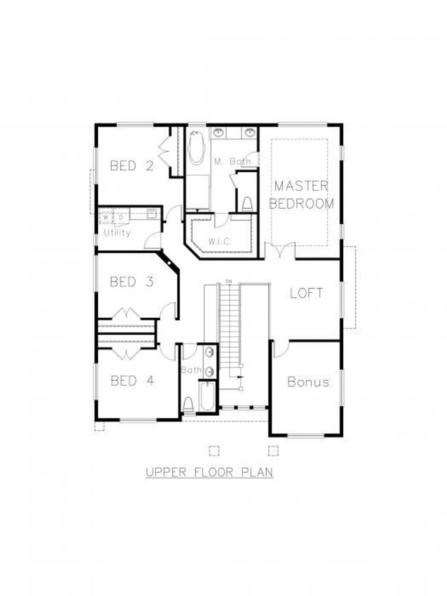Whistler 2-Car Upper Floor Plan
