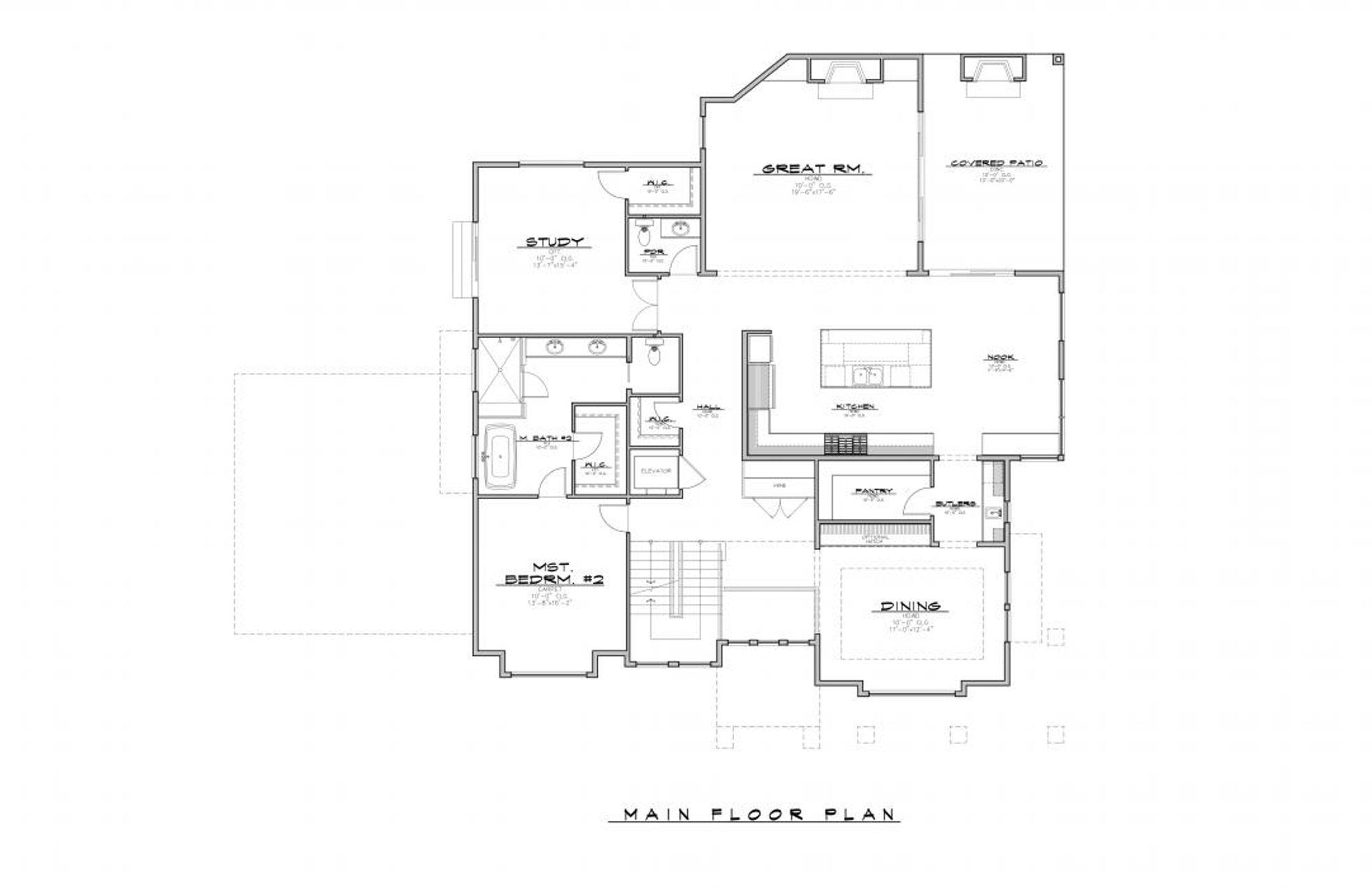 Cambridge Main Floor Plan