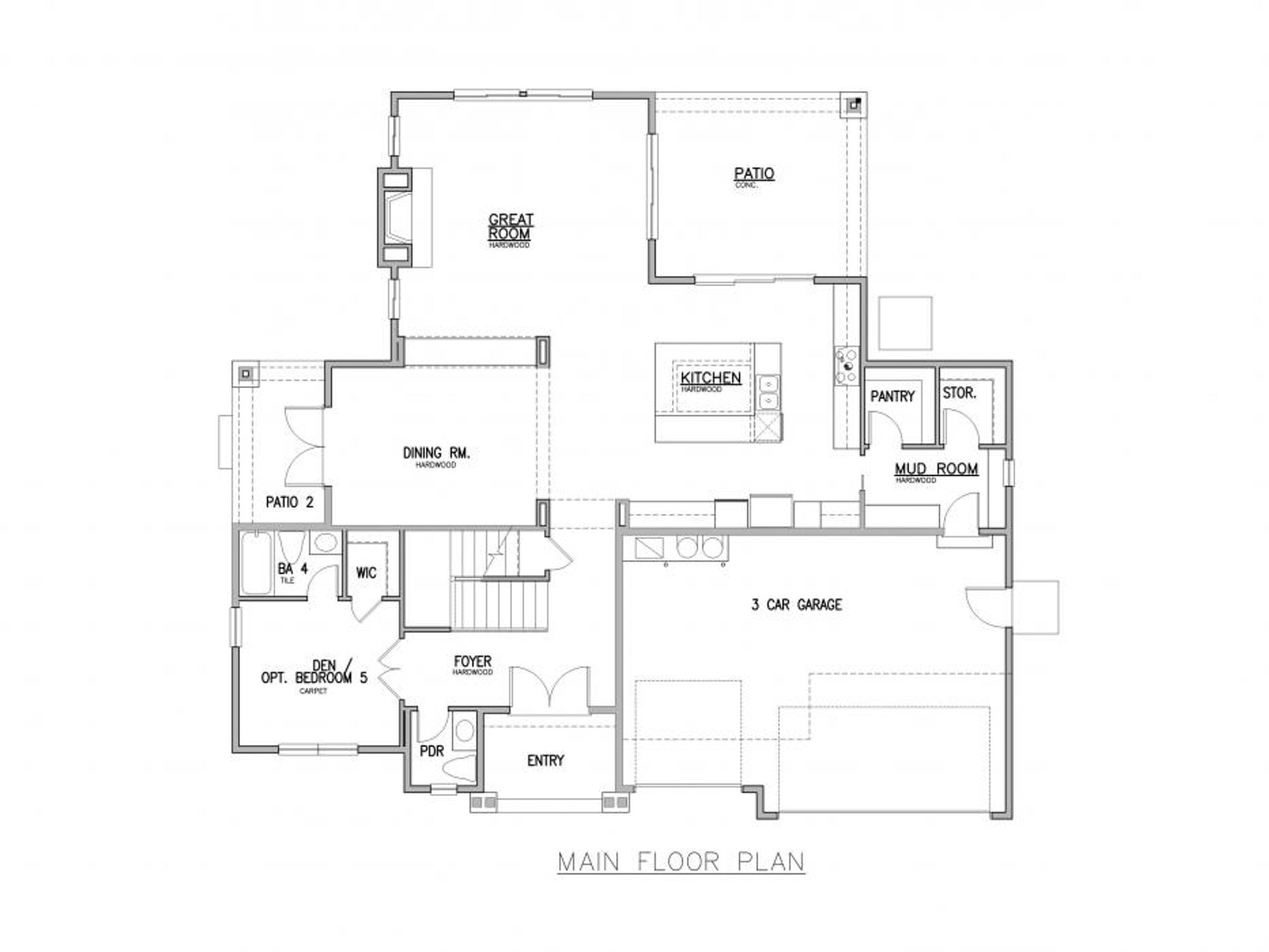 San Tropez A Main Floor Plan