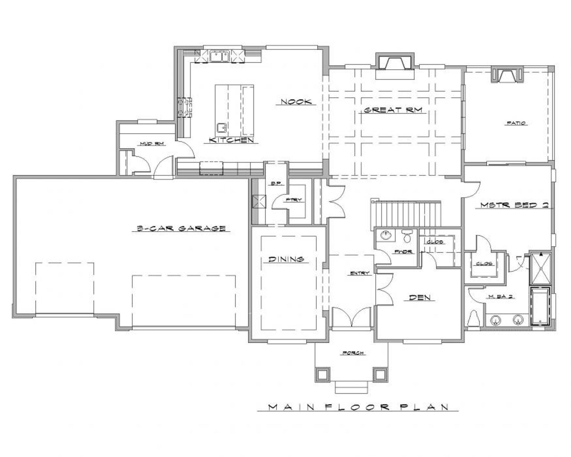 Calabria B Main Floor Plan