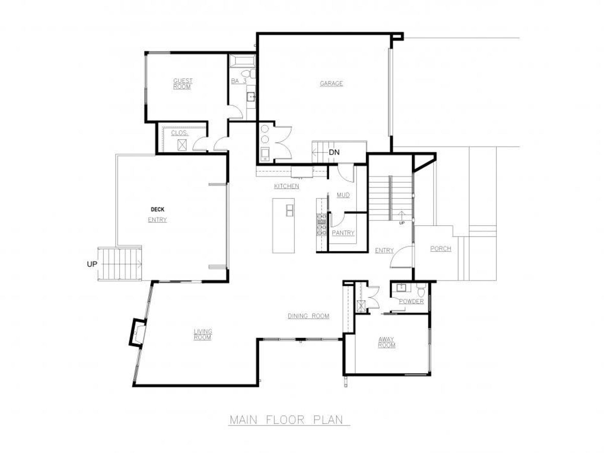 Oslo Main Floor Plan