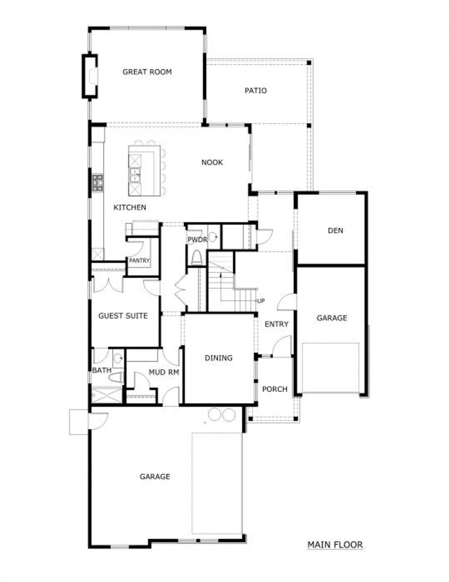 Siena Main Floor Plan