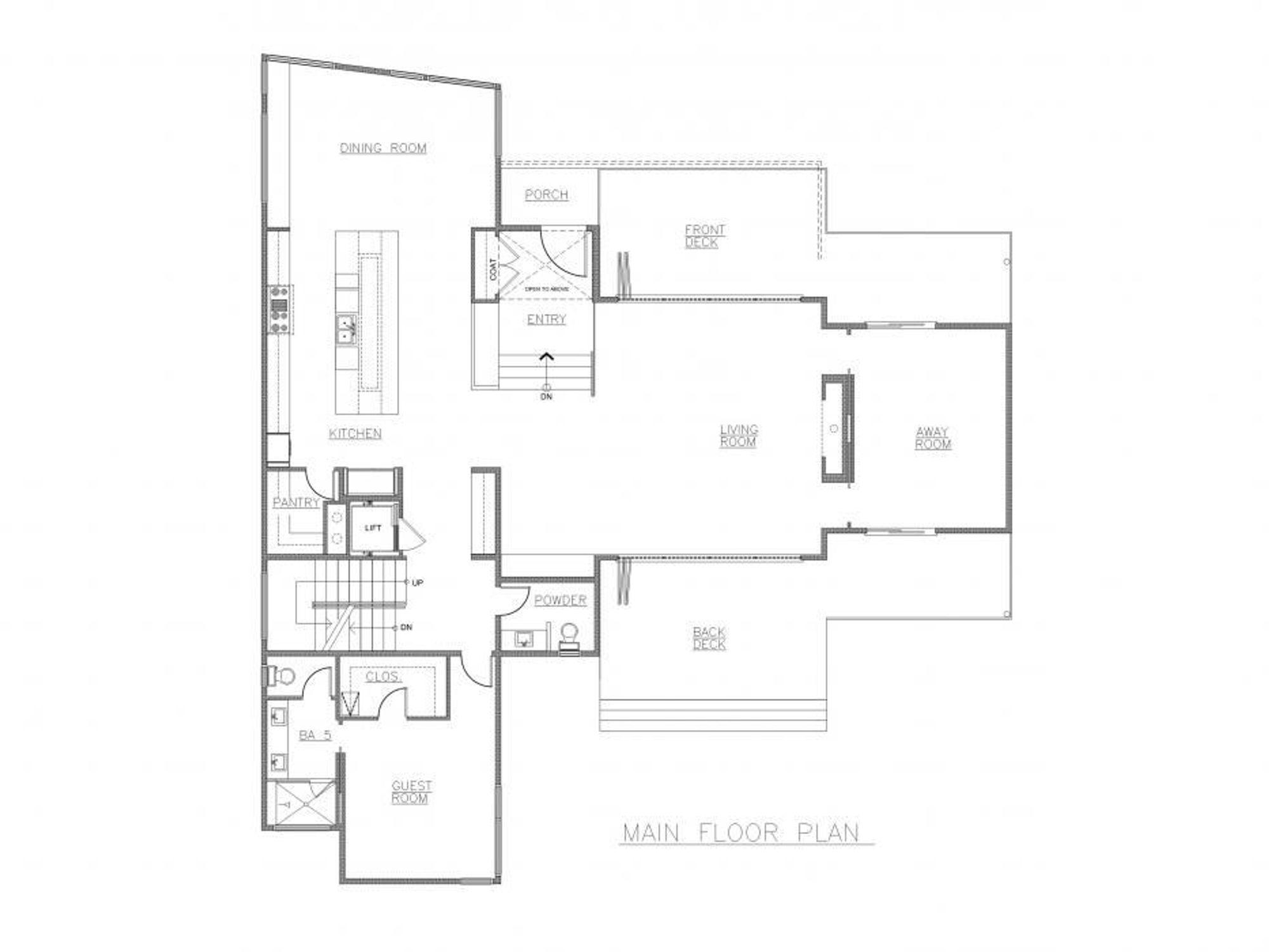Stockholm Main Floor Plan