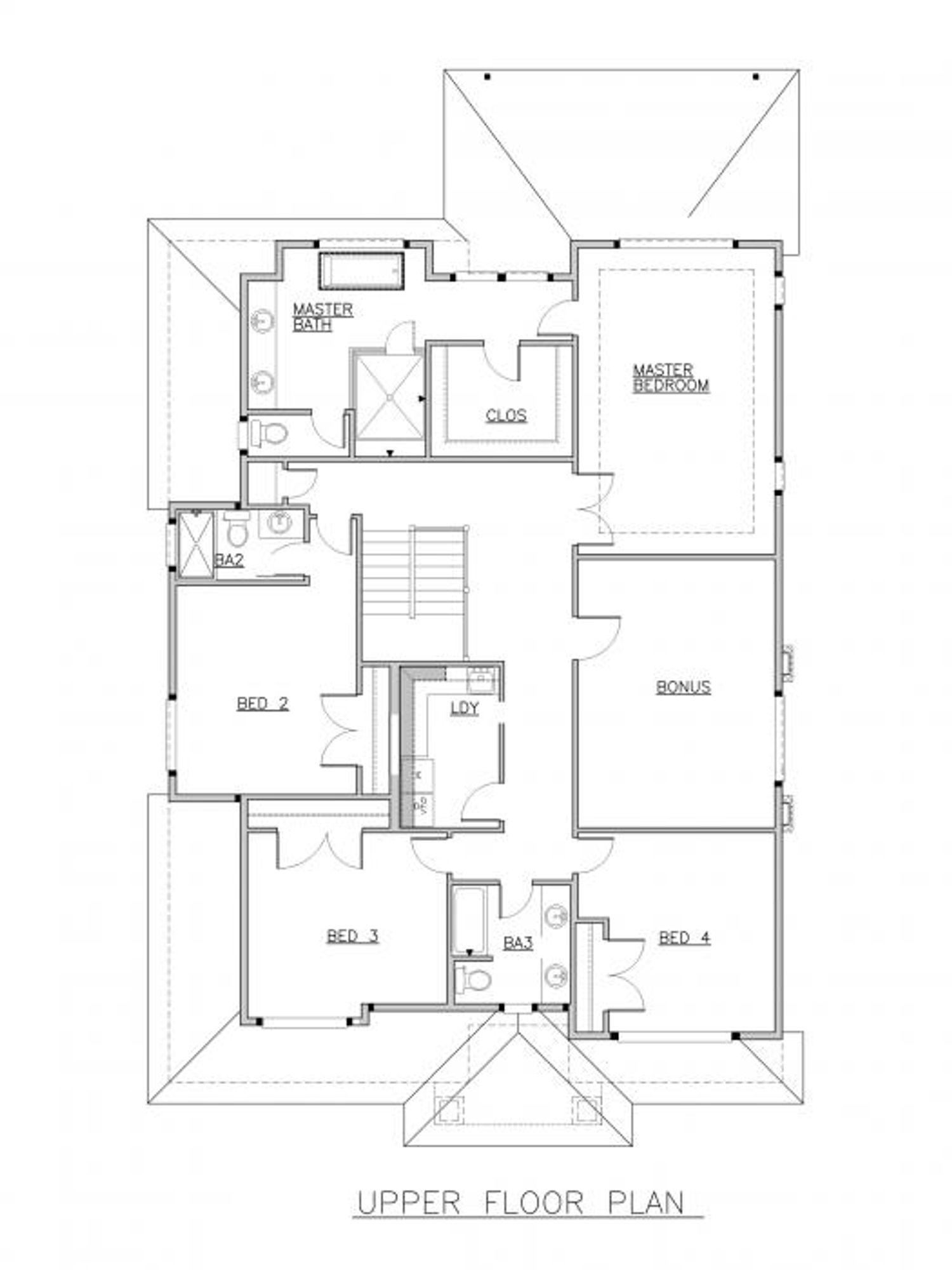 Pompeii Upper Floor Plan