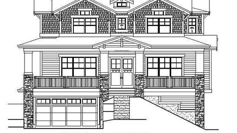 The Florence Avante Front Elevation Drawing