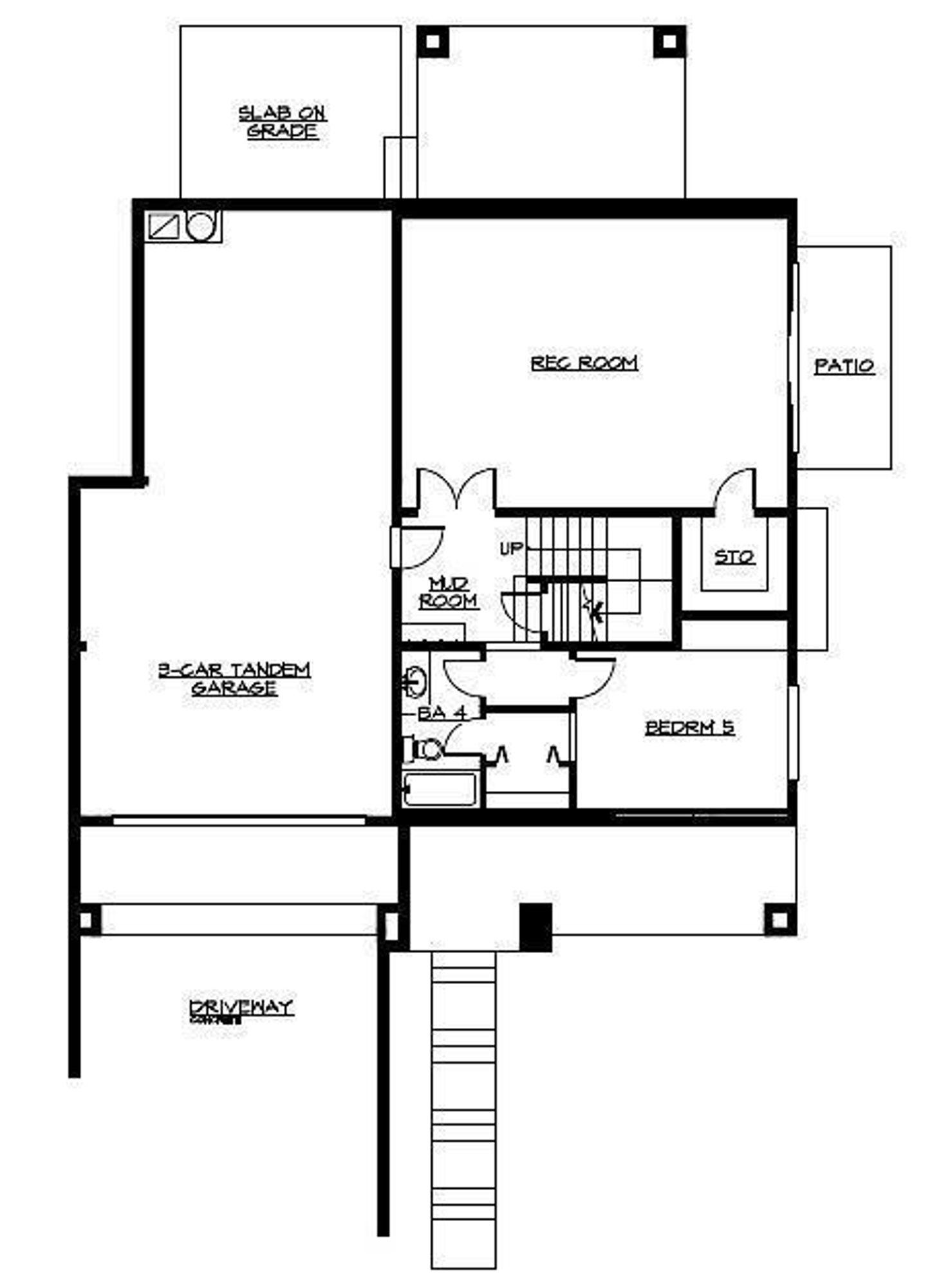 The Florence Avante Lower Floor Plan